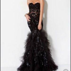 Jovani black lace dress